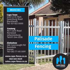 Palisade fencing, supply and installation