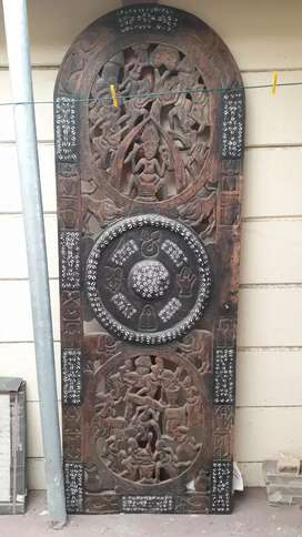 African wooden carved boards