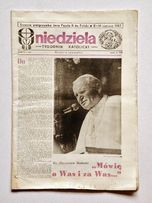 '' Niedziela '', wydanie specjalne tygodnika - wizyta Papieża 1987 rok