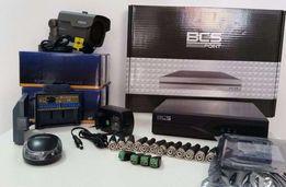 Zestaw Monitoringu 4 Kamery Nagrywanie Podgląd Online 720p/1080p IR70m