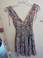 Letnia kolorowa sukienka w kwiaty H&M 36 S