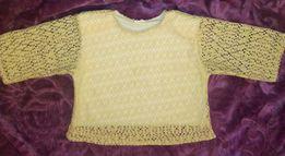 NOWY ażurowy sweterek sweter ażurowa bluzka beżowa kremowa morelowa