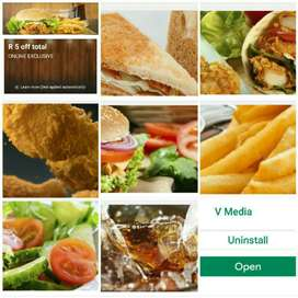 PERSONALIZED RESTAURANT / TAKEAWAY APP FROM GOOGLE PLAY STORE.