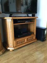Stolik dębowy pod telewizor RTV z naturalnego drewna - jak nowy !!!