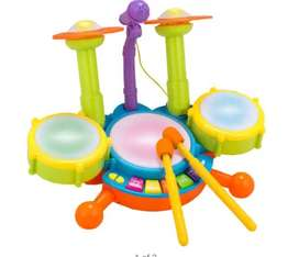 New! Electronic Mini Pad Drum Set For Kids