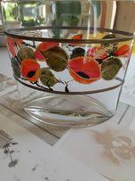 Wazonik szklany - wys. 17 cm