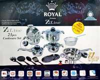 23pcs Stainless steel Heavy duty cookware set 0