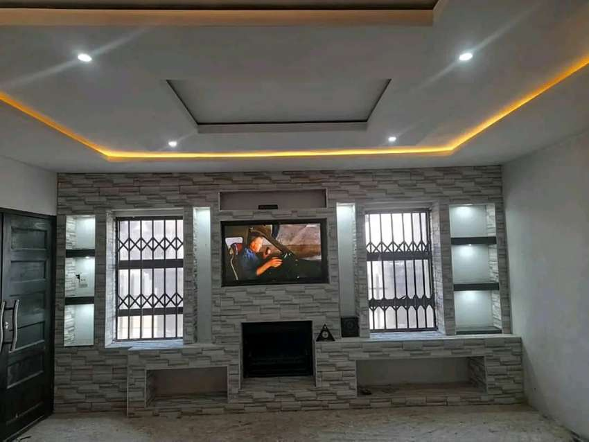 Ceiling decor and TV unit stand and partition 0