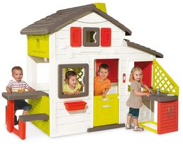 Игровой детский домик Smoby с чердаком и летней кухней (810200)