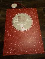 Torebka świąteczna nowa 59x42 prezent torebki
