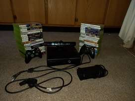 XBOX360 WITH 40 GAMES AND KINECT plus 2 remotes