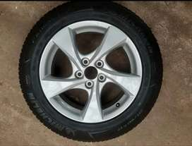 """Brand new toyota corolla mag and 17"""" Michelin tyre."""