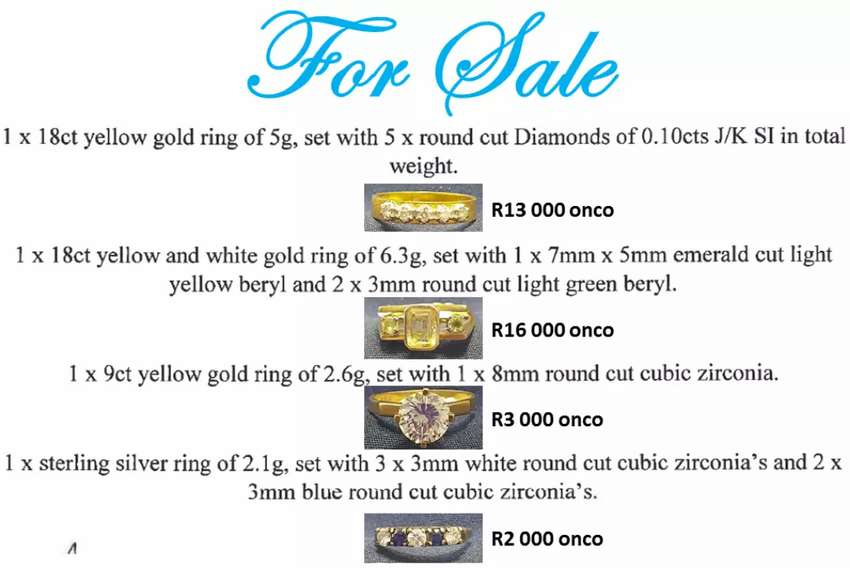 Rings for sale - make me an offer! 0