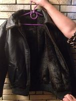 Кожаная женская куртка 1000 рублей