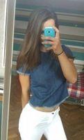 Nowa bluzka dżinsowa denim dżins top tshirt S