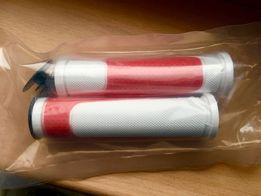 Грипсы Velo , белые с красным