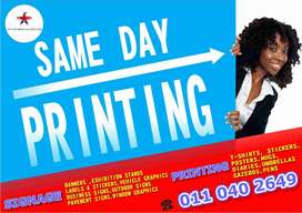 Printing Services,Shop Signage, Vehicle Branding , Promotions