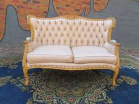 Victorian Style double seater solid Beachwood, beautifully carved