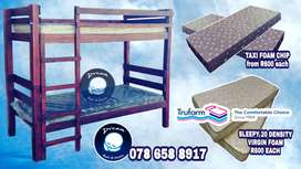 Double Bunk Bed with Mattresses FREE LOCAL DELIVERY!