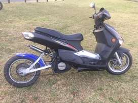 Custom scooter with DT125 water cooled