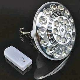 Flying disk type charged remote-control emergency lamp