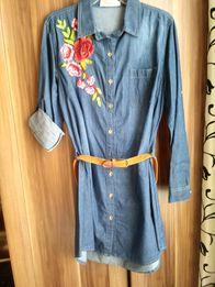 Sukienka tunika jeansowa