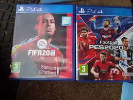 PS4 games Fifa 20 Champions Edition And PES 2020