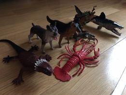 Набор игрушек: собака, ящерица , рак, крокодил