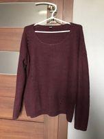 Bordowy sweter Pimkie