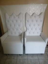 Image of Red hot special 8 piece set king and Queen chairs