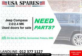 Jeep Compass 2.0/2.4 MK 2007-17 used doors for sale