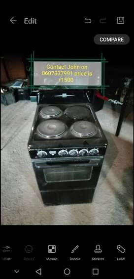 Defy 4 plate stove and oven for sale
