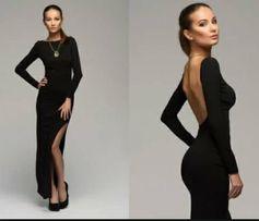 Сукня, плаття, платье, чорне плаття, відкрита спина, вечірнє плаття