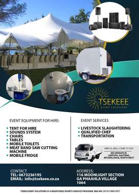 Tseke Events Solution mobile toilets and freezers