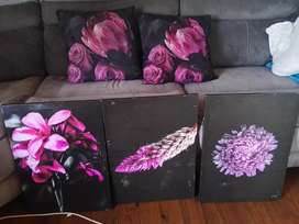 Scatter Cushion & Picture Combo