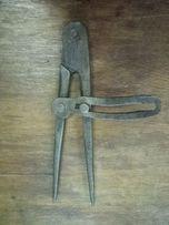циркуль кованый старинный инструмент ручная работа