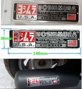 Yoshimura heat resistant metal exhaust decal badge