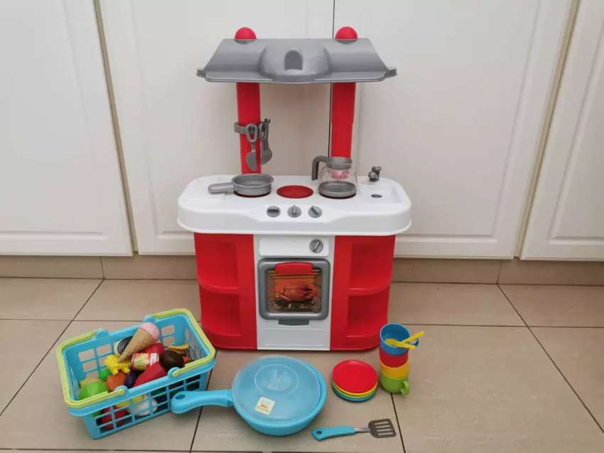 Kids kitchen play set with accessories and food 0