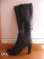 кожаные зимние сапоги 38 размер