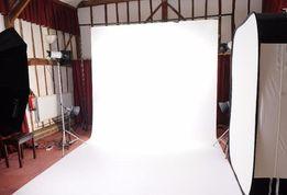 ШАРА! Белый Фон для Фото 160х300см, Фотофон Виниловый для фотостудии