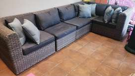 Patio 5-seater wicker set