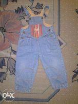 джинсовый полукомбез