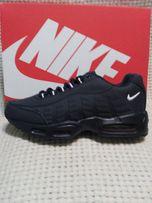 Мужские кроссовки NIKE AIR MAX 95, темно-синие, верх-кожа, нубук, р.43