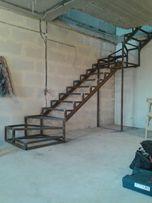 Лестница на металлическом каркасе / Сходи металеві / Перила