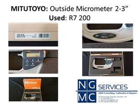 """Mitutoyo: Outside Micrometer 2-3"""" (Used)"""