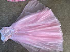 Pink evening gown