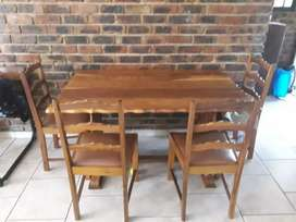 Antique Wooden Dining Table & chairs set