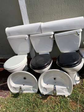 2 Toilets and 1 Basin with a Tap for SALE!!!