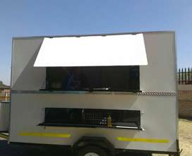 Luxury food trailer with display