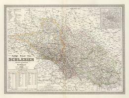 ŚLĄSK reprodukcje XVII-XIX w. map do wystroju wnętrza 40x30 cm
